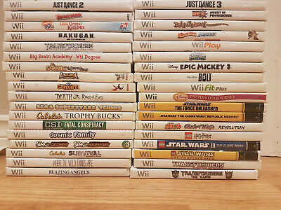 CHEAP Nintendo Wii Games $7 Each OVER 15 to Choose From!