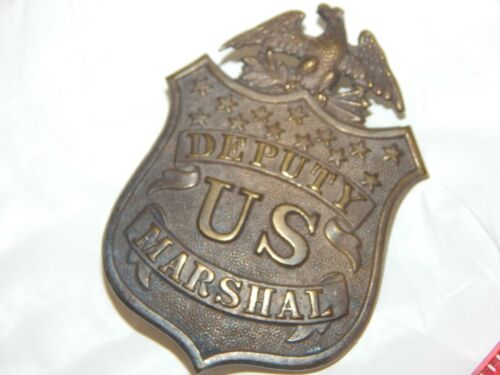 ANTIQUE 1920 s DEPUTY US MARSHAL POLICE UNITED STATES MARSHAL # 39A IN BOOK
