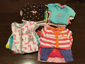 Lot of new born girls clothes
