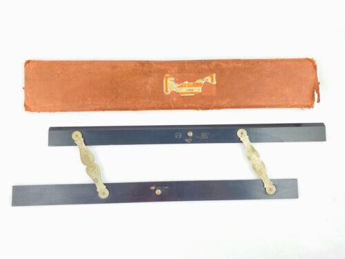 "Antique Keuffel & Esser 18"" Folding Parallel Rule 1784 Drafting Nautical Tool"
