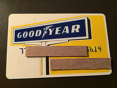 Goodyear Tire   Rubber Company 1970S Vintage Collectors Credit Card