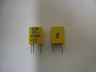 Wima Fkm2 .01uf 100v 5 Capacitor 5 Piece Lot