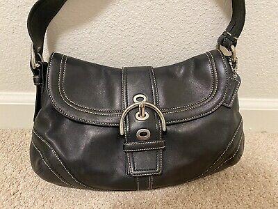 Coach black leather soho buckle Shoulder bag