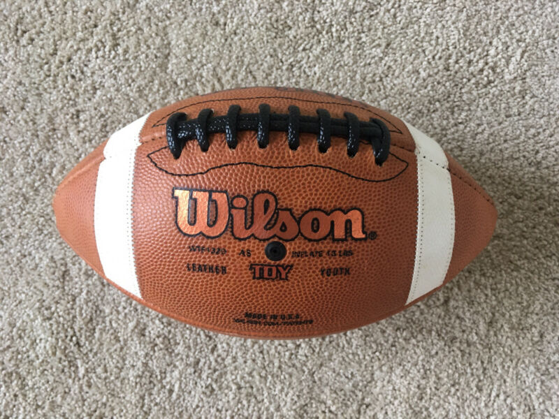 Wilson GST 1320 Leather Game Football TDY Youth NFL College High School Junior