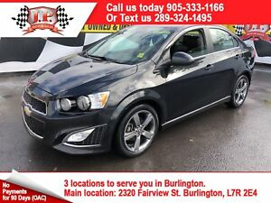 2015 Chevrolet Sonic RS, Automatic, Sunroof, Back Up Camera