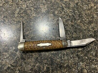 1890-1940 John Primble Bone Leather Punch Knife India Steel