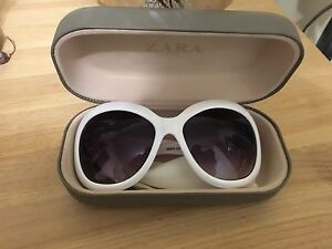 Zara white sunglasses
