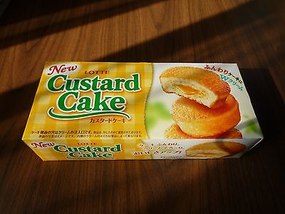 Custard Cake LOTTE Japanese confection cake candy sweetie sweets made in Japan