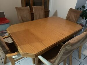 Kitchen Table Set With 6 Chairs
