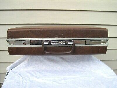 Vintage Samsonite Classic 100 Brown Hard Shell Attache Brief Case Combo Lock