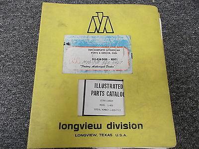 Marathon Letourneau L800 Letro Loader Original Parts Catalog Manual