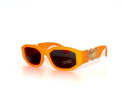 Versace 4361 5320/87 Orange Fluo Gray  Sunglasses Unisex