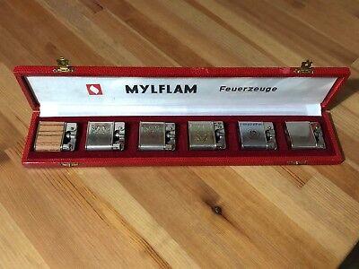 Mylflam 1000 Zünder Collector Box Germany Benzinfeuerzeug Lighter Briquet RARE