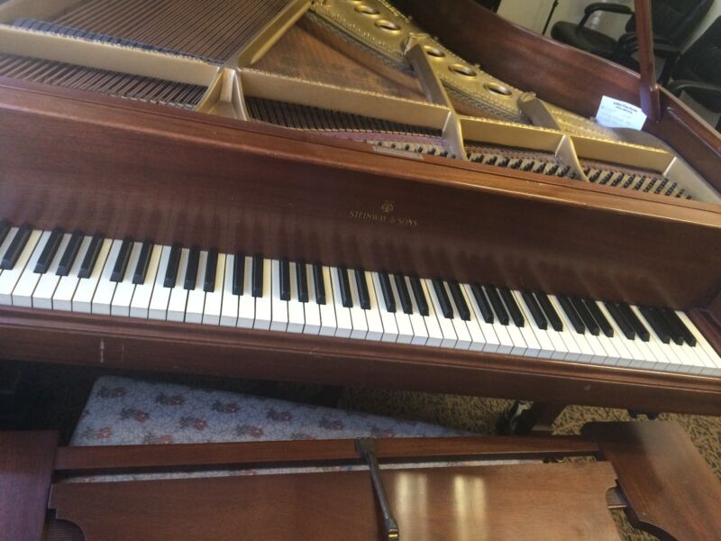 Steinway & Sons Model M - Walnut Grand with Bench (100+ years Old)  5