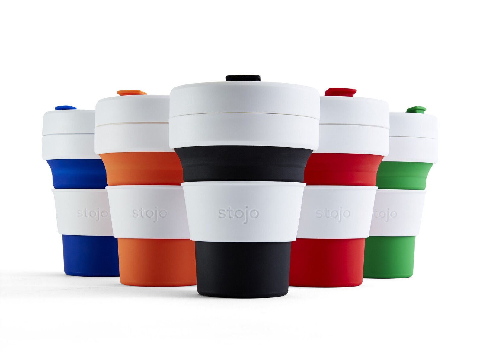 Stojo Pocket Cup Red 340ml 3 Pack