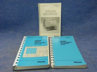 Set Of 3 User Reference Guide For Tektronix 2430a Oscilloscope