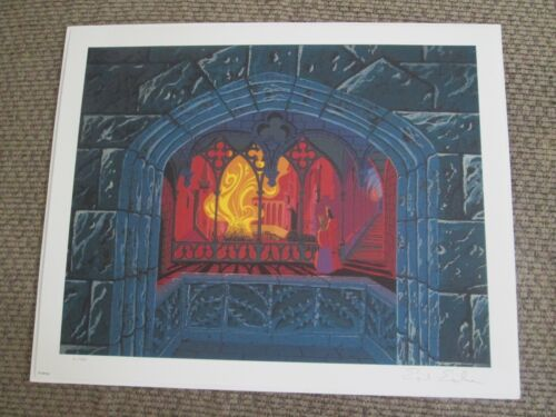 Disney Eyvind Earle signed Sleeping Beauty King & Queen giclee animation Print