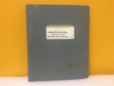 Valhallah 4300b Digital Micro Ohmmeter Operation Maintenance Manual