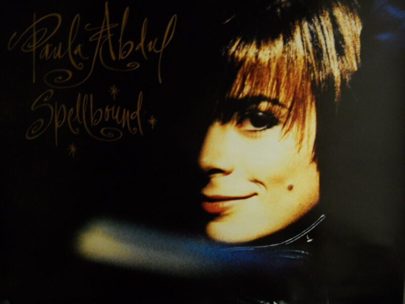 PAULA ABDUL Large Rare 1991 PROMO POSTER from SPELLBOUND mint condition