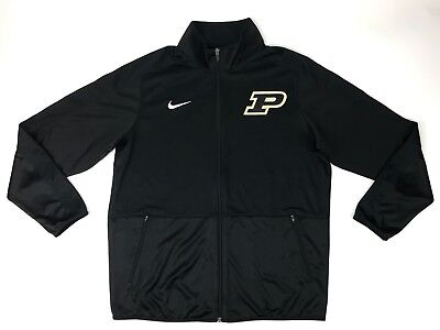New Nike Mens L Purdue Boilermakers Basketball Rivalry Warmup Jacket Black  65