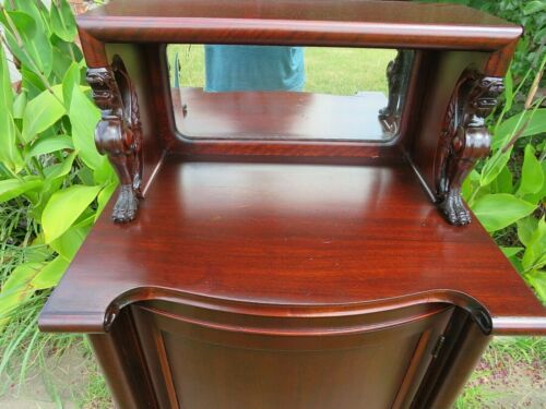 Outstanding 1860 Figural Music Cabinet Empire