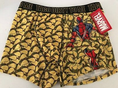 New Deadpool 2 Men's Size XL Marvel Boxer Briefs Taco Dirty to Me  Gift Movie