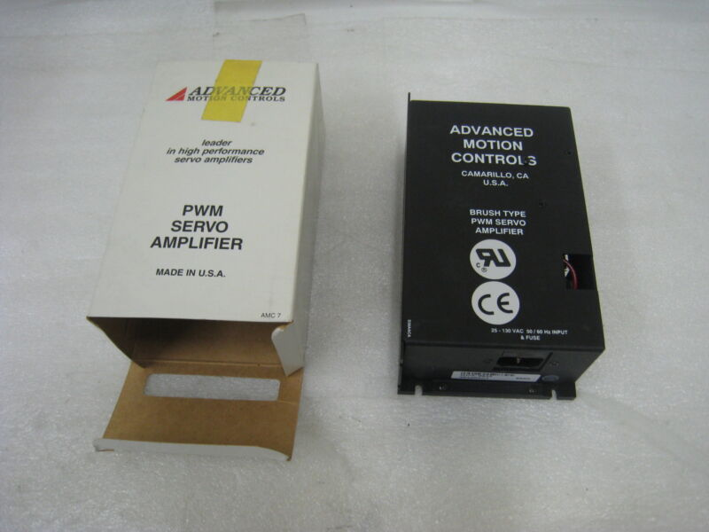 Advanced Motion Controls 30a20-act Brush Type Pwm Servo Amplifier, New In Box
