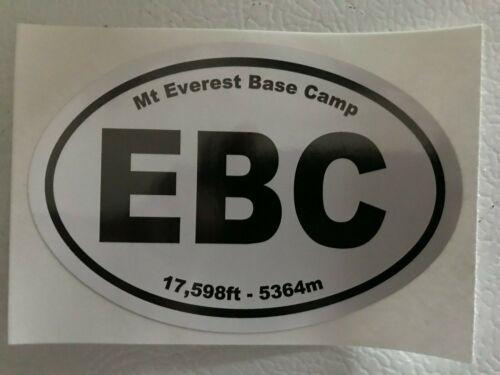 Mount Everest Base Camp Decal Sticker - Euro - EBC - Mt. Everest - Free Shipping