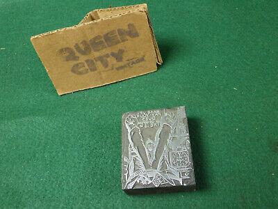 Vintage Woodmetal Letterpress Printers Block 1930s Pay Union Dues 1940s 2-12