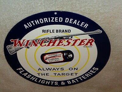 APO/&FPO OK METAL SIGN WINCHESTER LOGO FACTORY ANTIQUED