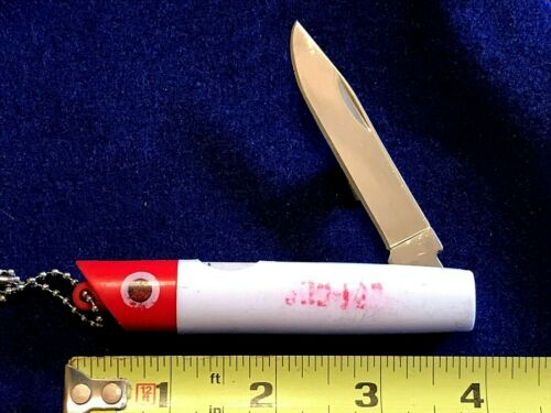 """RARE Vintage 1950's """"GOT-CHA"""" Fishing Lure Knife/Keychain 4""""Closed Collectible."""