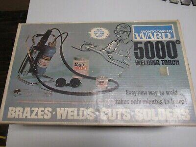Montgomery Ward 5000 Solidox Welding Brazing Soldering Torch Kit Vintage