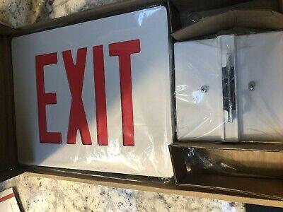 Hubbell-dual-lite Sedrwe Sign Exit Led Cast Aluminum