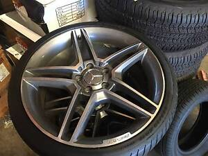 "4X 19"" MERCEDES BENZ C63 REPLICA WHEELS + PIRELLI TYRES Brookvale Manly Area Preview"
