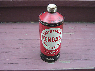 Kendall Outboard Motor Oil 2 Cycle Gasoline Engine Oil Can 2 Cycle Outboard Motor