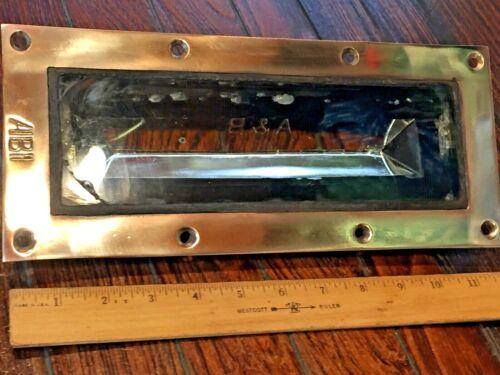 """ABI VINTAGE CAST POLISHED BRONZE DECK PRISM (GLASS) 12"""""""