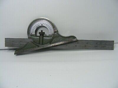 Mitutoyo 180-502 Hardened 12 Steel Scale W Mitutoyo Protractor Head