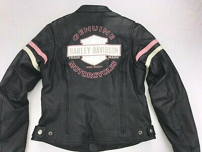 HARLEY DAVIDSON WOMEN PINK FALL MISS ENTHUSIAST 3-IN-1 LEATHER JACKET SMALL