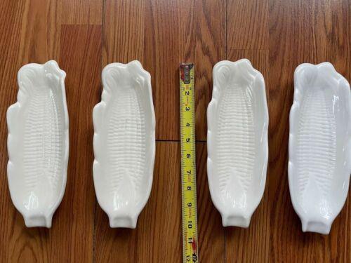 Corncob Plates - Set Of 4 - Holds Corn on Cob Ceramic