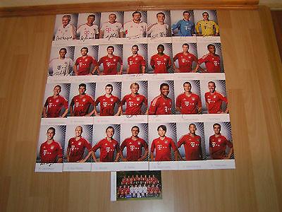 FC Bayern München 29 Stück Autogrammkarten Saison 2011/2012