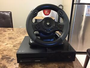 Xbox one console Model 1540, 500GB, with steering wheel