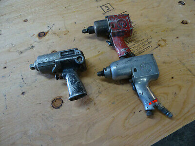 Lot Of 3 Pneumatic Impact Wrench 12 58 Chicago Pneumatic Cp-9541 Skil 1113