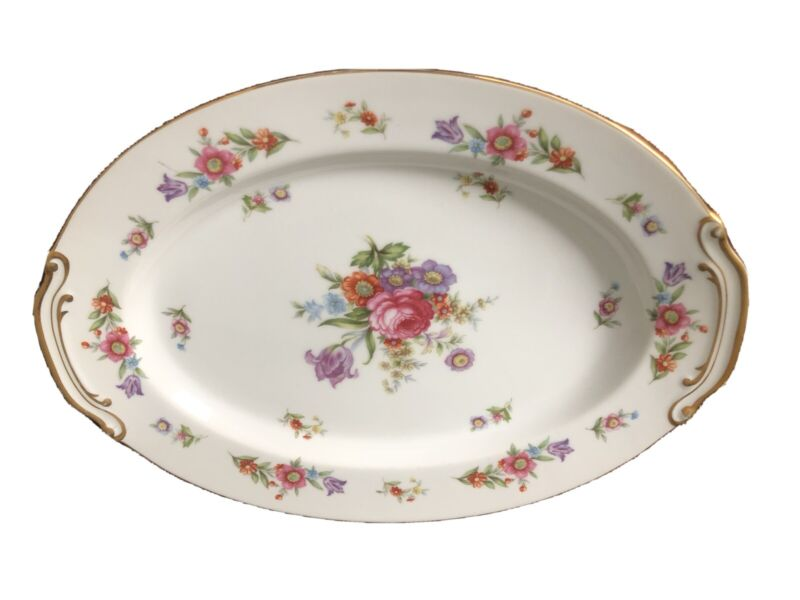 Went Worth China Made In Japan Floral Platter Dresdona