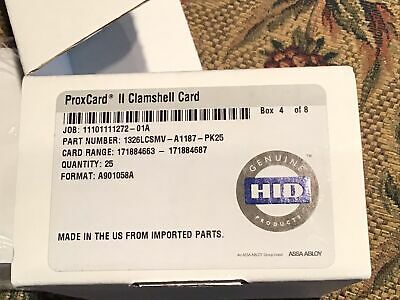 Hid Proximity 1326 Proxcard Ii Clamshell Access Control Card 1326lgsmv-pack25