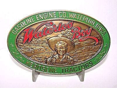 Gasoline Engine Co Waterloo Boy Brass Belt Buckle 1990 John Deere Limited Ed NEW
