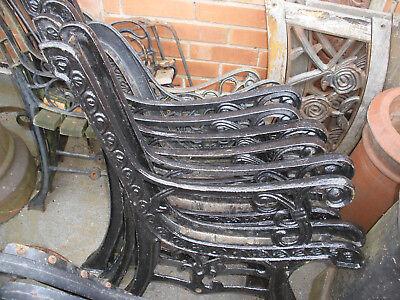 Antique / vintage cast iron bench ends