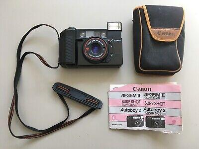 Canon SureShot AF35M II Film Camera 38mm F2.8 Lens Lomo Retro case manual