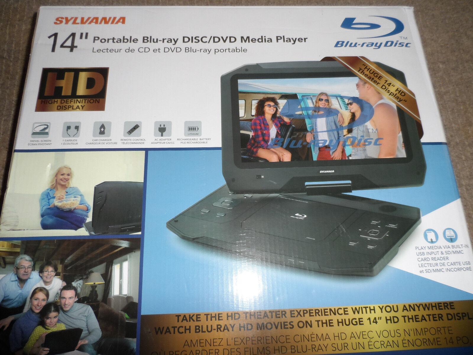 "SYLVANIA 14"" HD Portable Blu-ray Disc/DVD Media Player *NEW*"