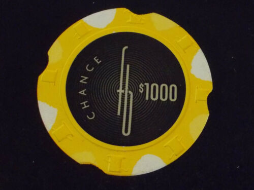 FOUNTAINEBLEAU CASINO $1000 CHANCE hotel gaming poker chip ~Las Vegas NV (D2199)