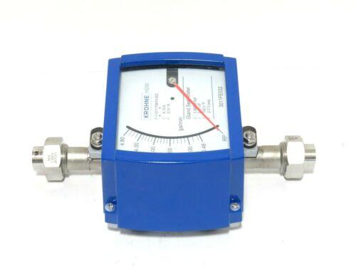 """1/2"""" Krohne H250/RR/M9 FNPT Stainless Steel Variable Area Flowmeter NEW 2013 (B)"""